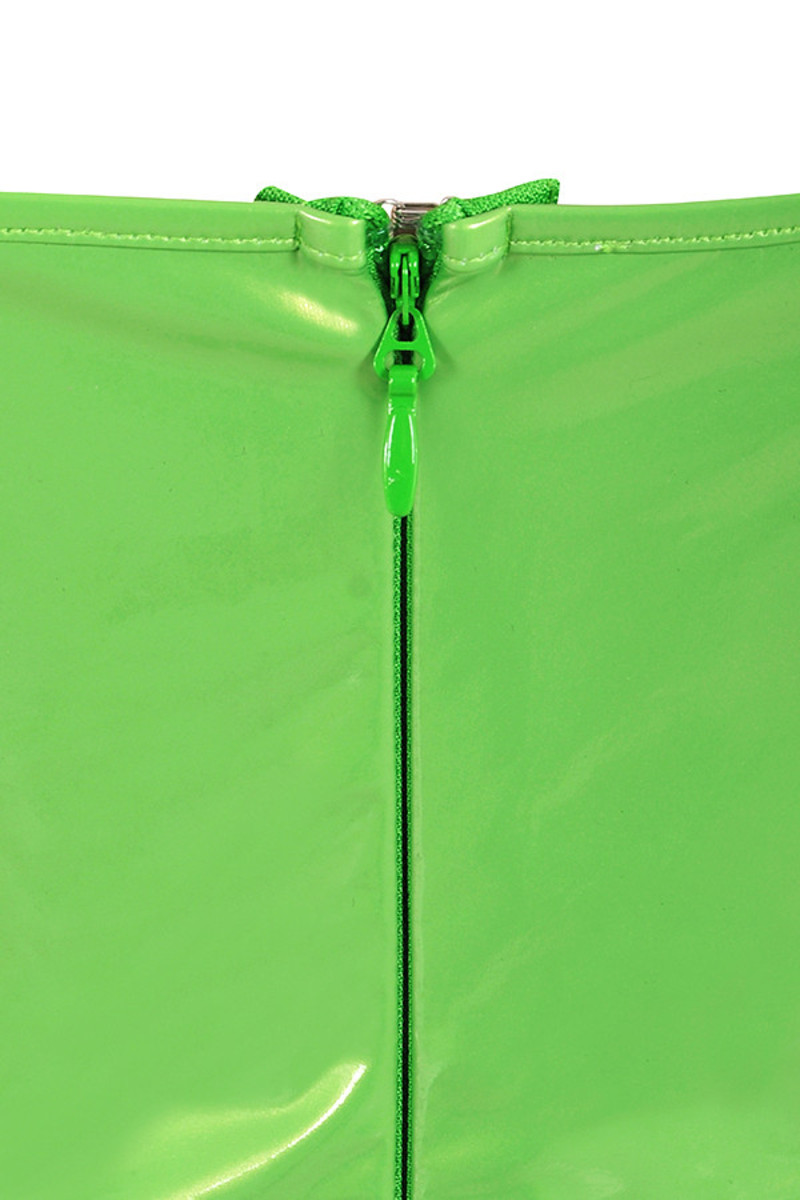 neon green shiver dress
