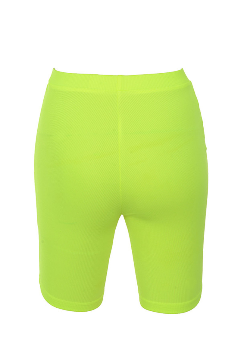 shooting star shorts in neon lime