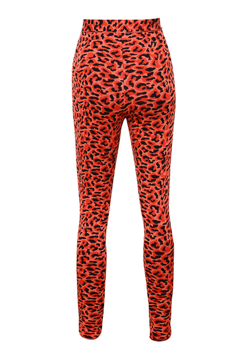 slide trousers in red