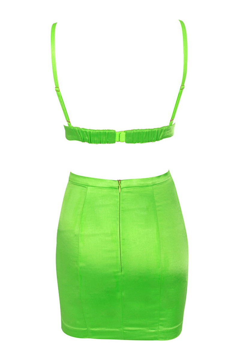 smitten dress in lime