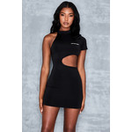 Blind Sided Black Jersey Cut Out Dress
