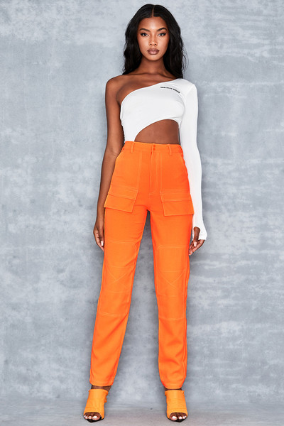 Two To Tango Neon Orange Trousers
