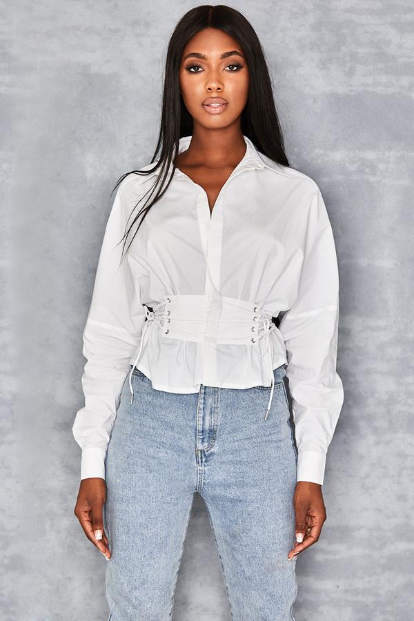 Come Round Corset Waist Shirt