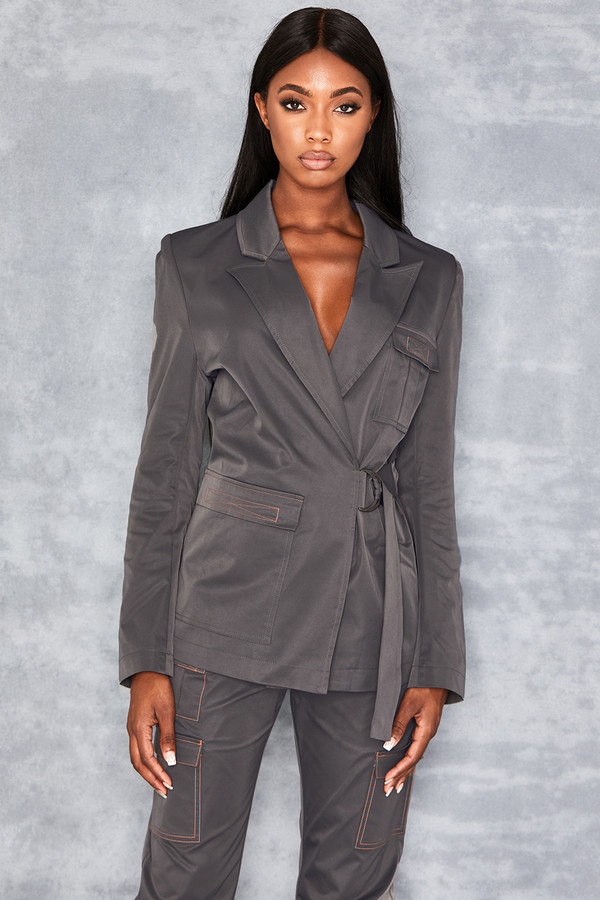 Dime A Dozen Dark Grey Tailored Jacket