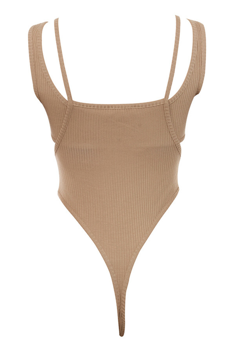 aware bodysuit in tan