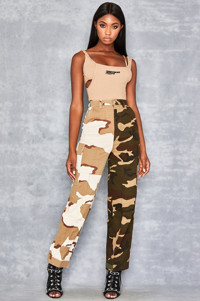Contrast Camo Trousers by Mistress Rocks