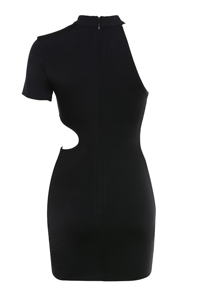 blind sided dress in black