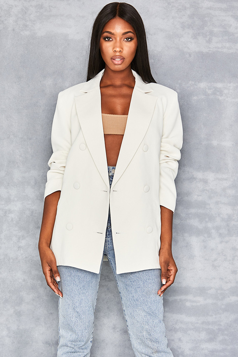 Off White Oversized Blazer by Mistress Rocks