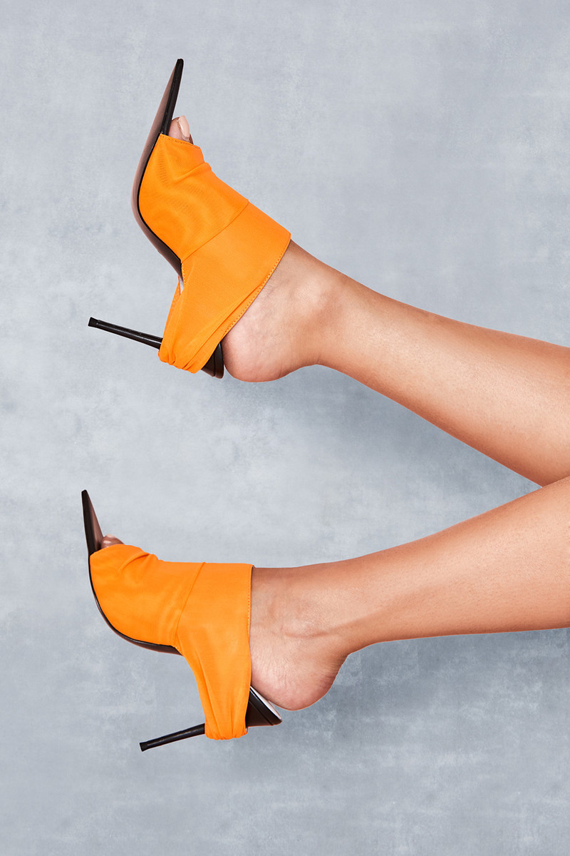 Abyss Orange Power Mesh Mules