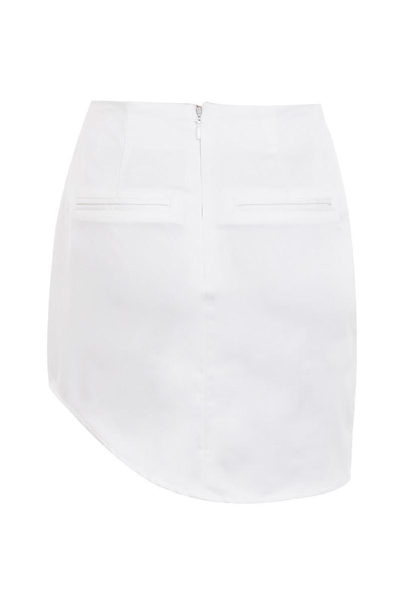 dont rush skirt in white