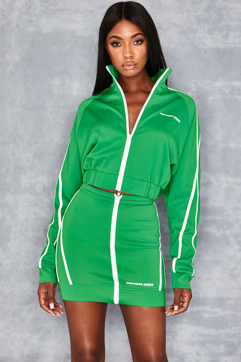 Home Stretch Green Sports Mini Skirt