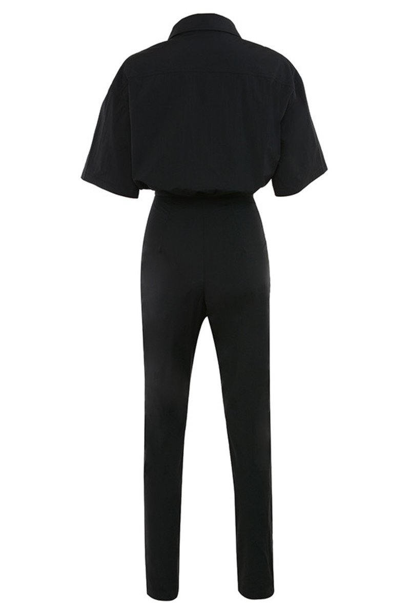 game plan jumpsuit in black