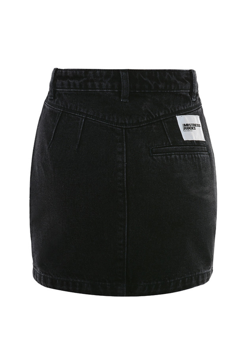 heads up skirt in black