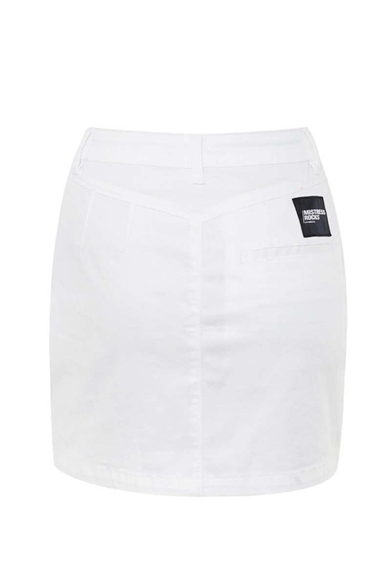 heads up skirt in white