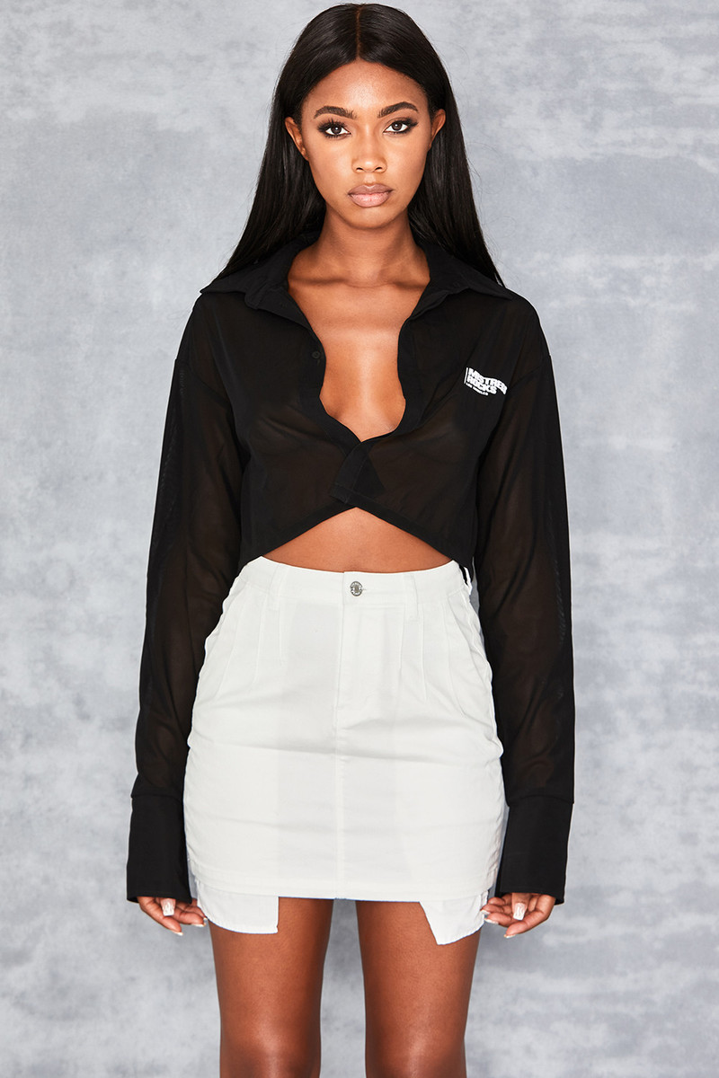 Specialist Black Power Mesh Branded Shirt