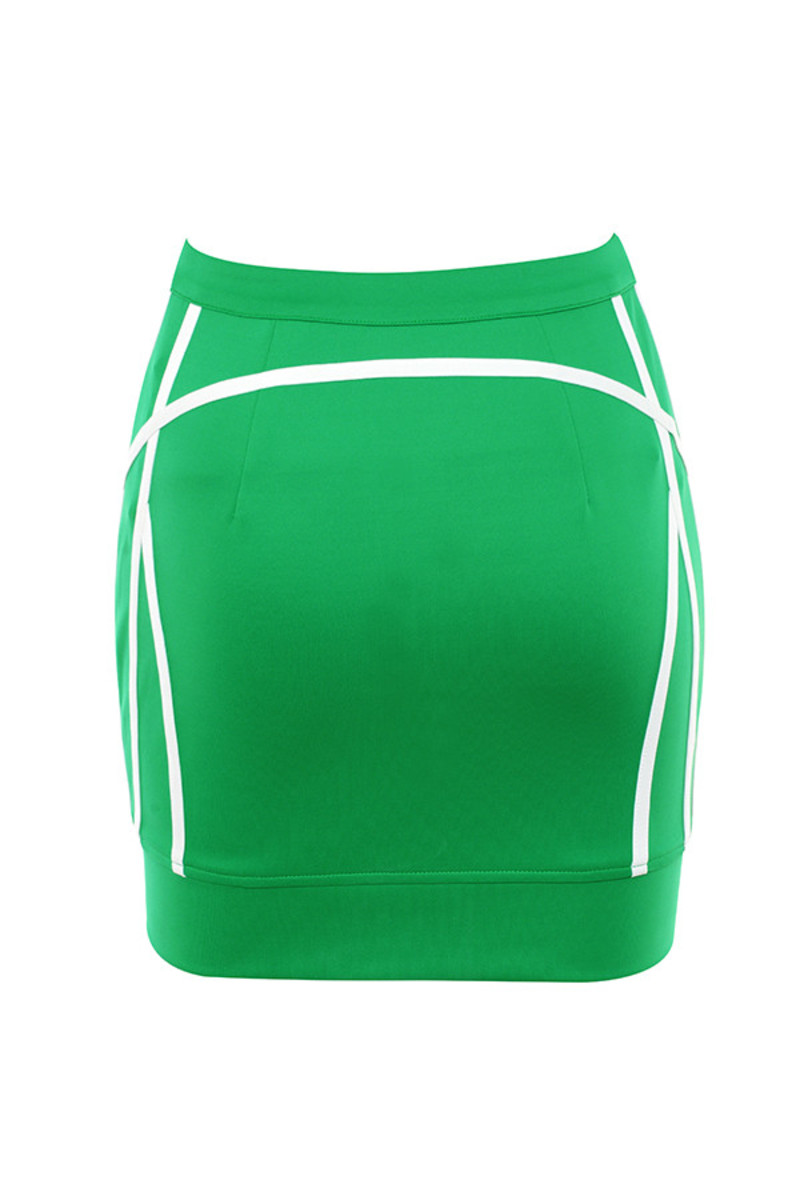home stretch skirt in green