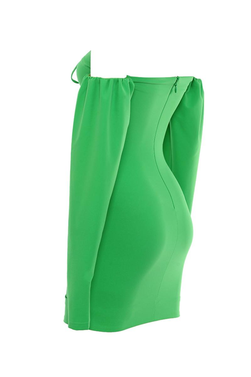 journey dress in emerald