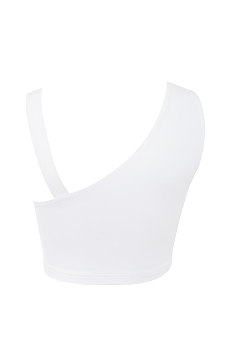 pleaser top in white