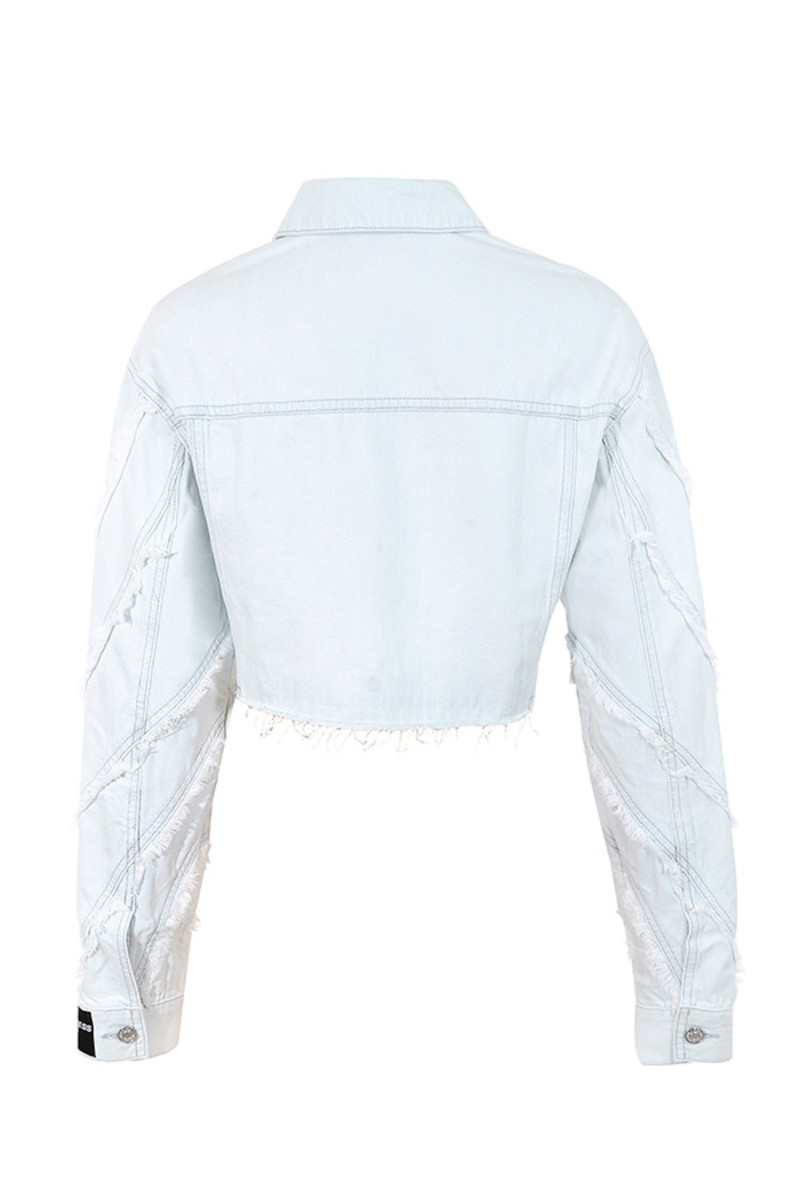 rolling jacket in ice blue