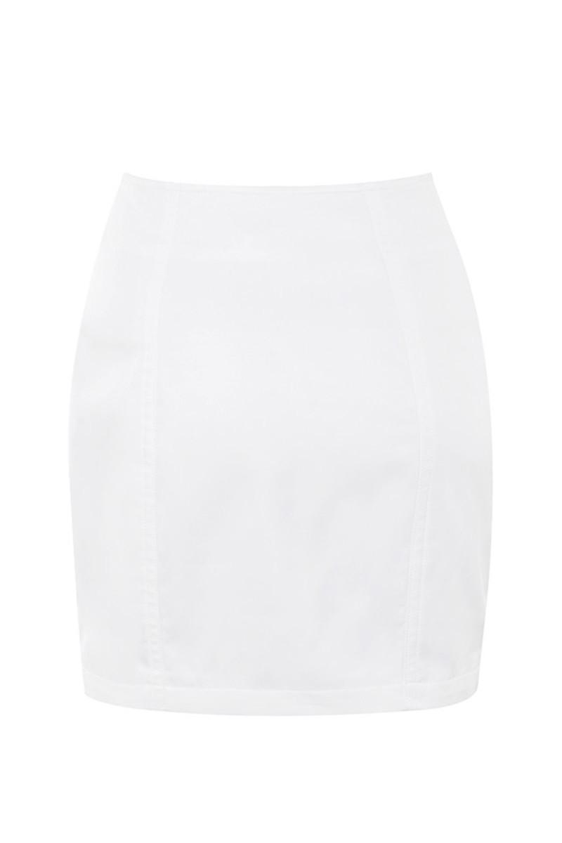 super sonic skirt in white