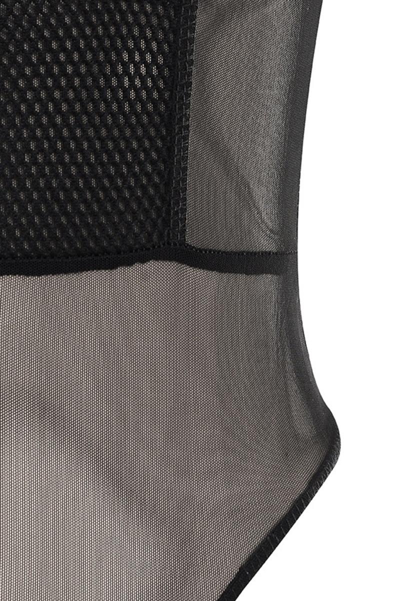 black tongue tied bodysuit