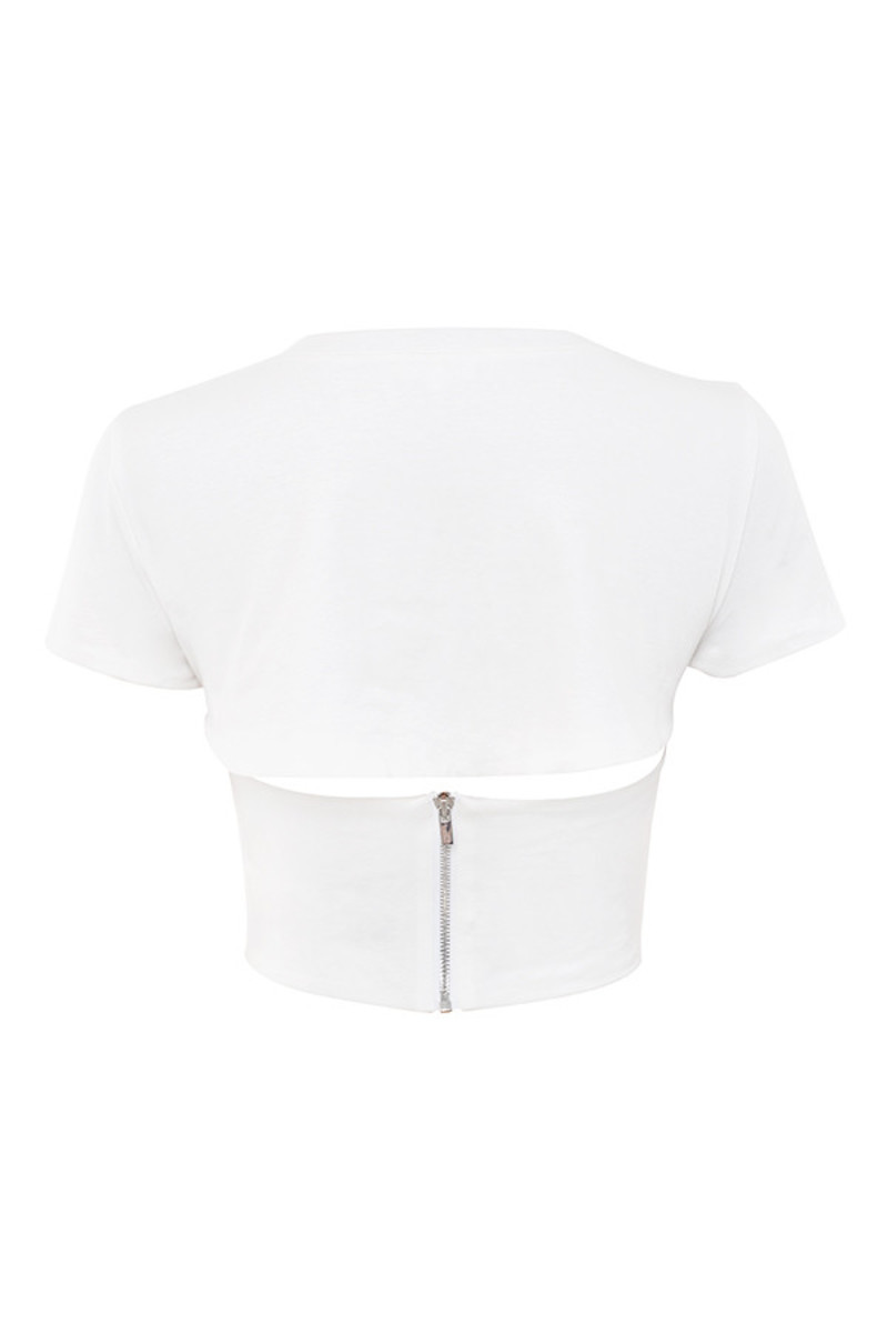 transmission top in white