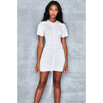 Checking In White Jersey T Shirt Dress