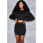 Love Lessons Black Neoprene Sweater Dress