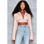 Dive In Blush Oversized Cropped Jacket