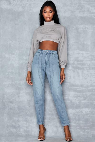 Dawn Washed Denim Twisted Seam Jeans