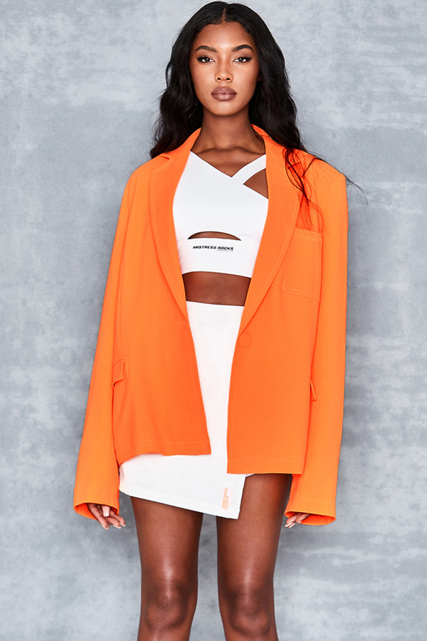 Mainstream Neon Orange Oversized Jacket