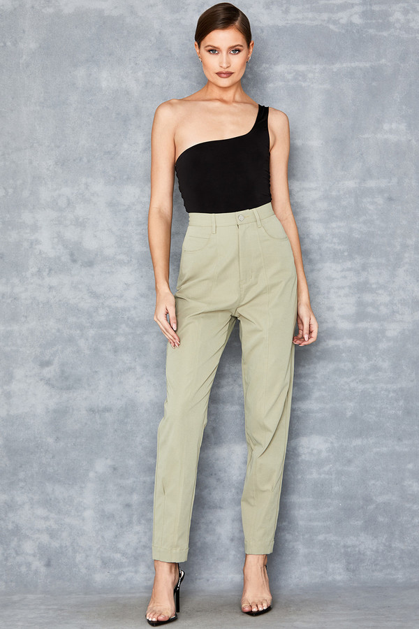 Genius Pistachio Cotton Twill Jeans