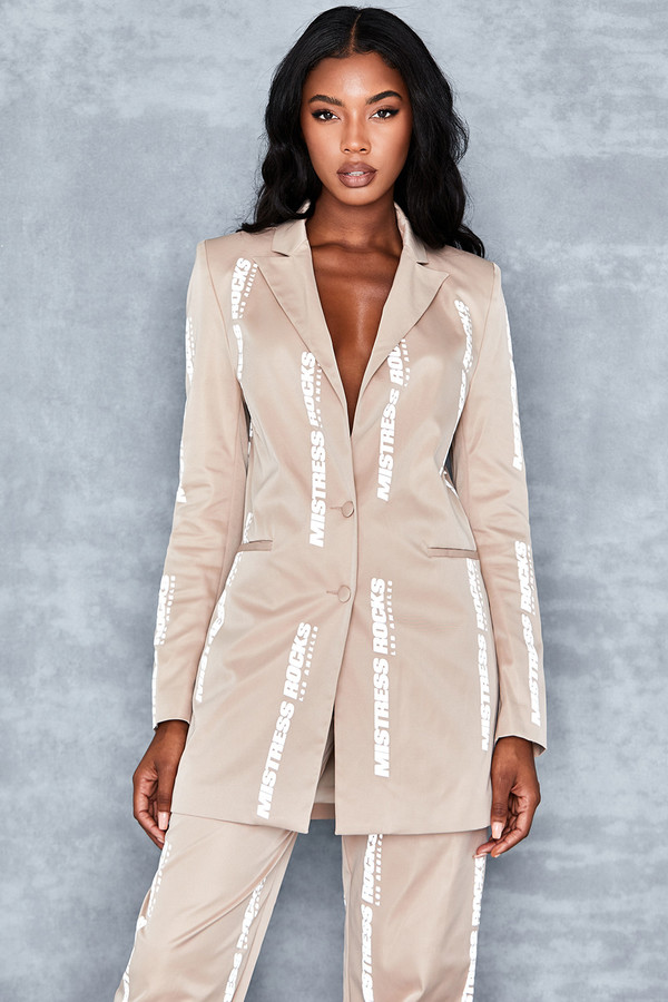 Razor Stone Reflective Print Suit Jacket