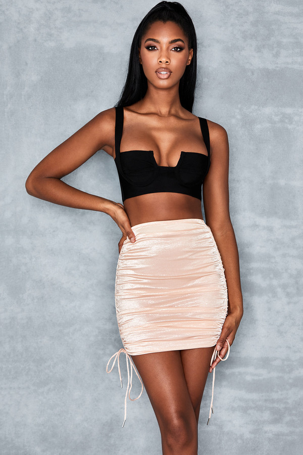 Viewpoint Blush Gloss Jersey Mini Skirt