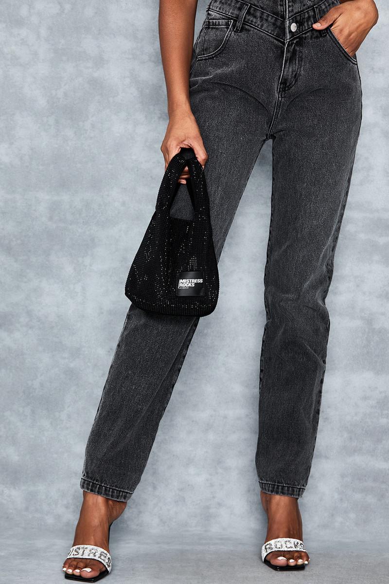 Coya Black Crystal Mini Shopper Bag