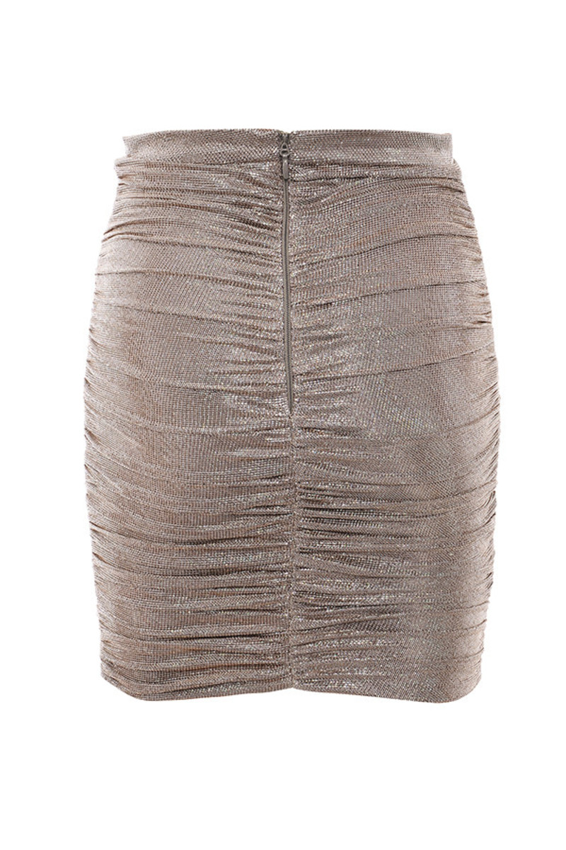 cardinal skirt in metallic