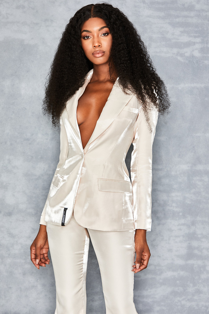 Memories Ivory High Shine Tux Jacket