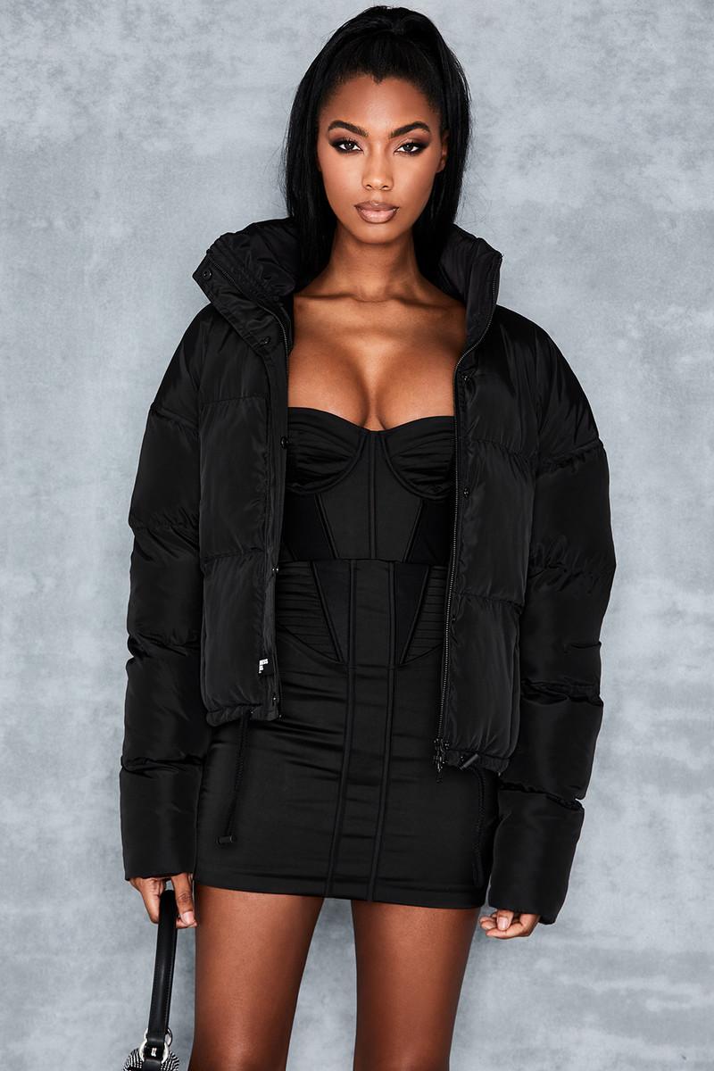 Slalom Black Puffa Jacket