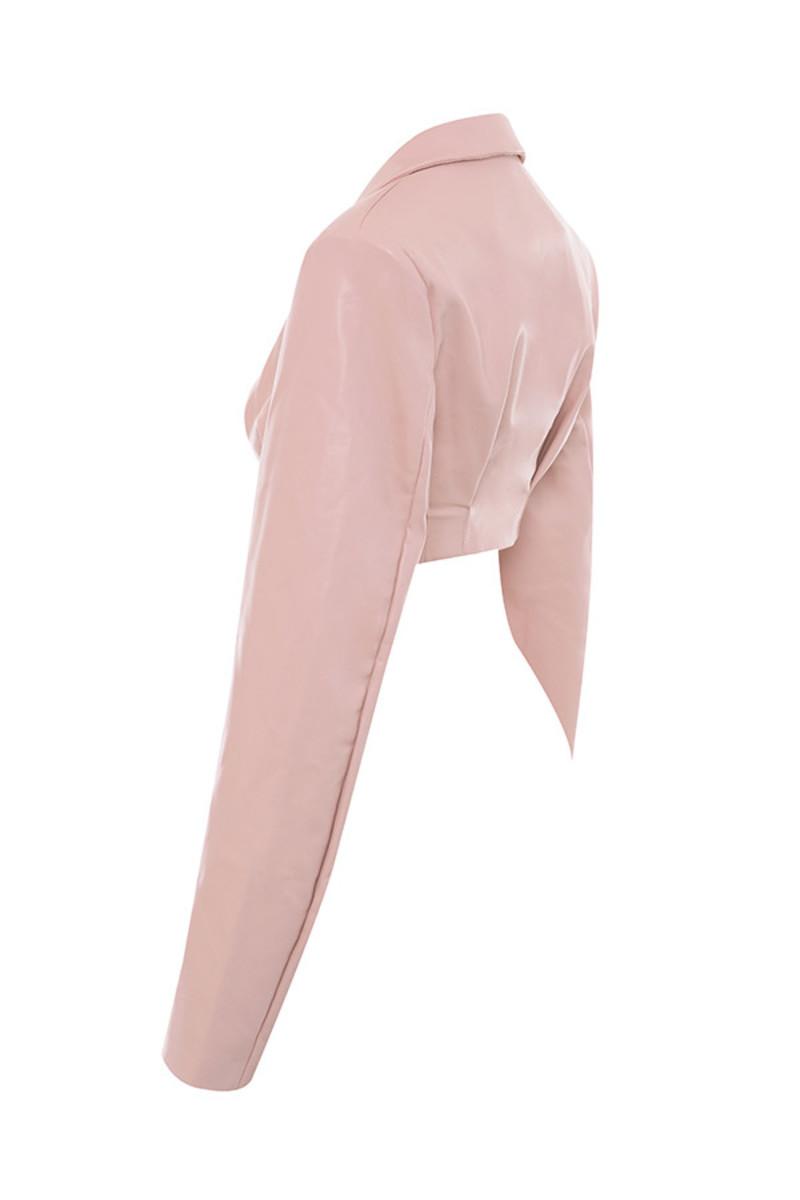 dive in jacket in blush
