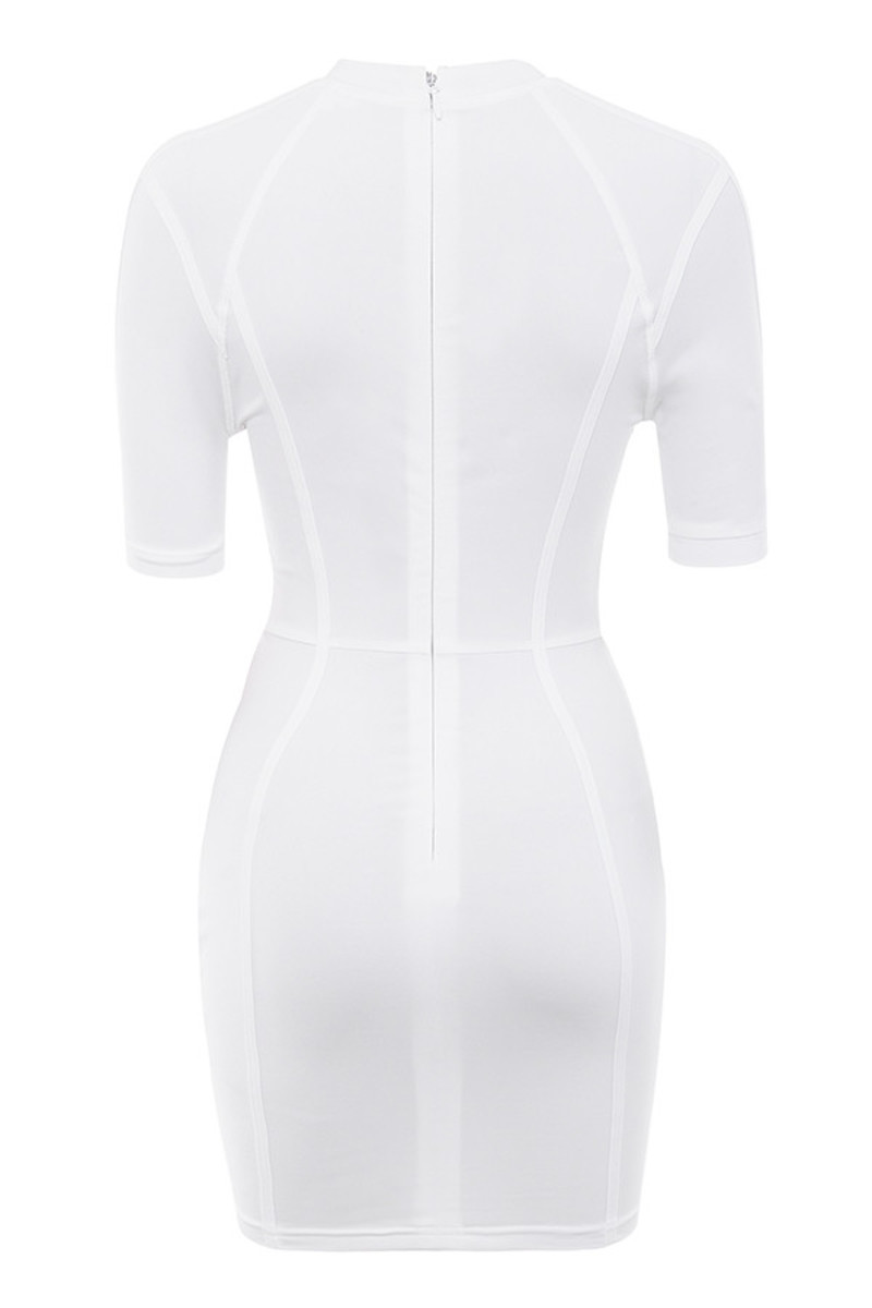 next level dress in white