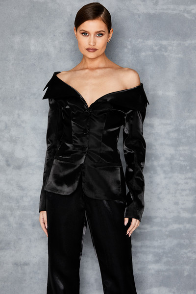 Serenity Black High Shine Jacket