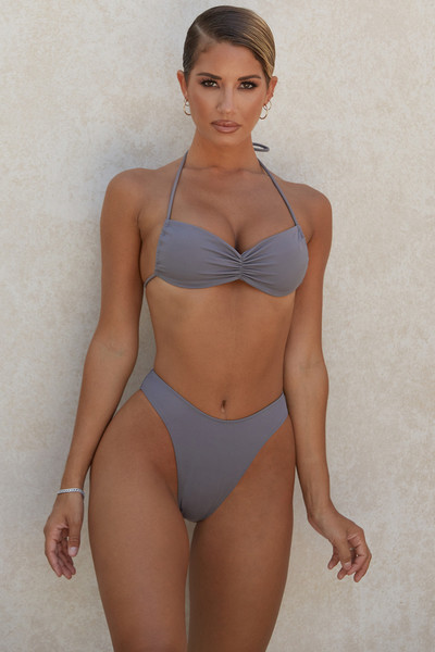 Indochine Grey Halter Bikini