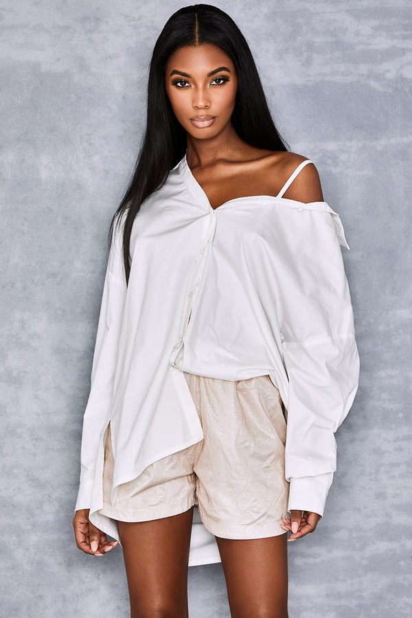 Elemental White Oversized Shirt