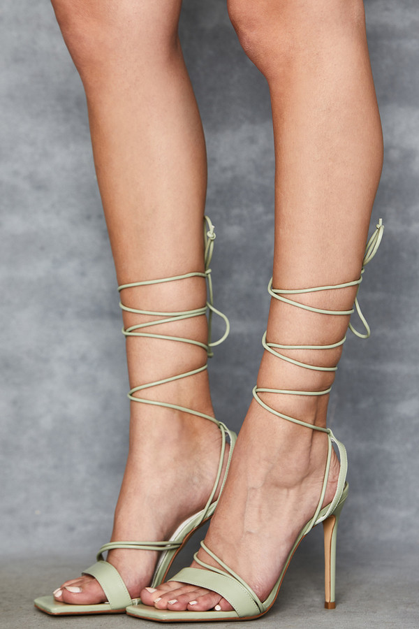 Mischief Mint Strappy Sandals