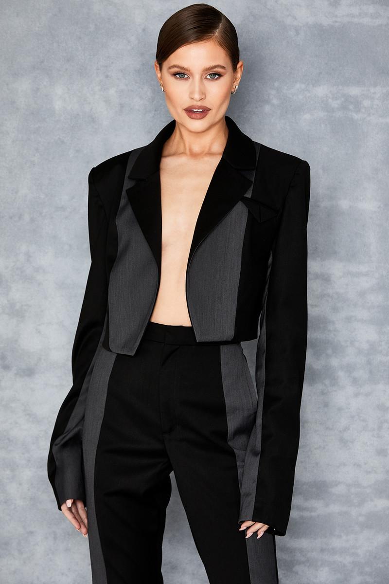 Partake Black Cropped Blazer