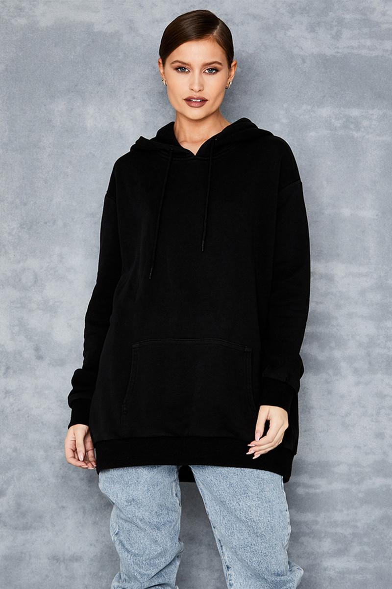 Complicated Black Branded Hoodie
