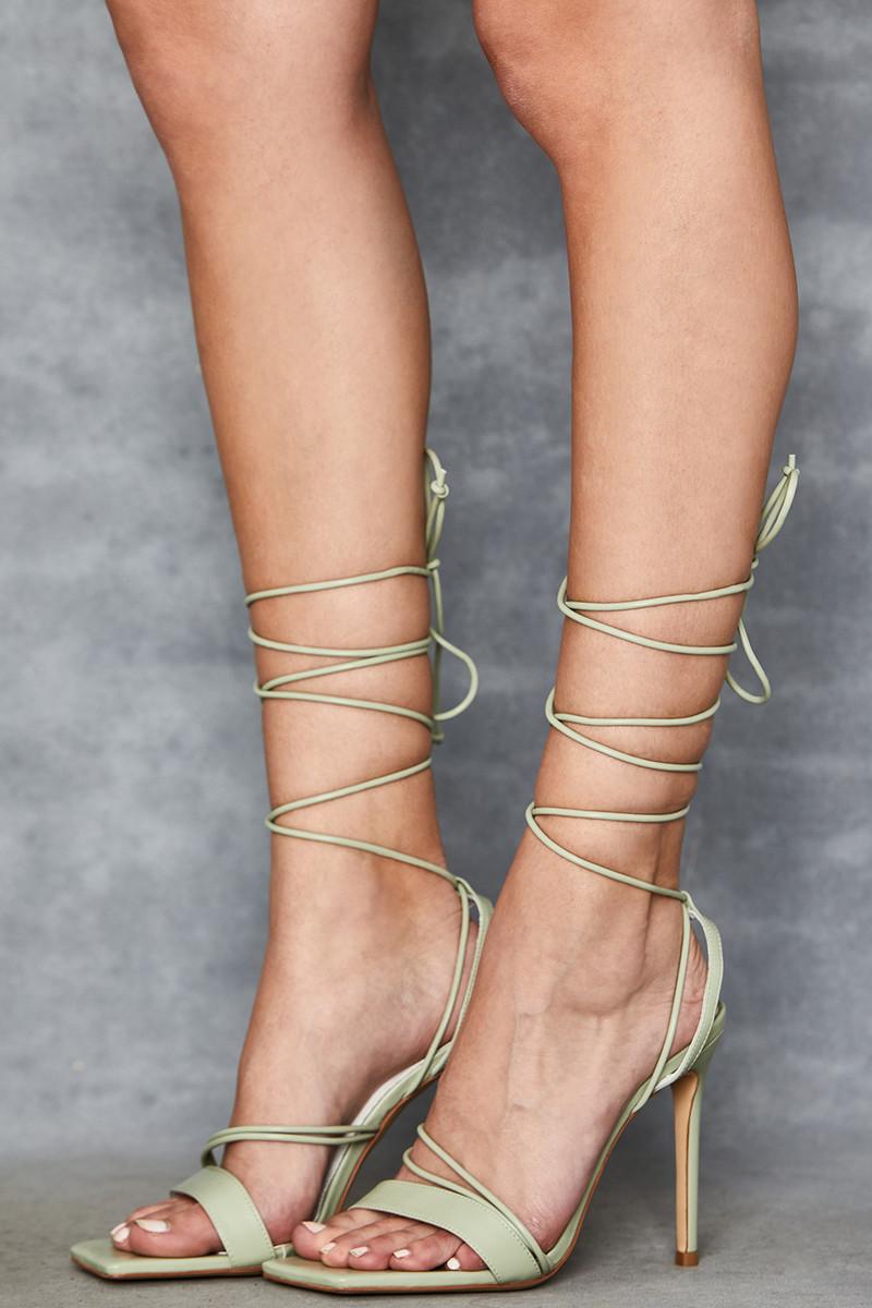 Mischief Mint Strappy Sandals