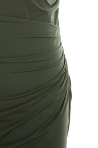 khaki karma dress