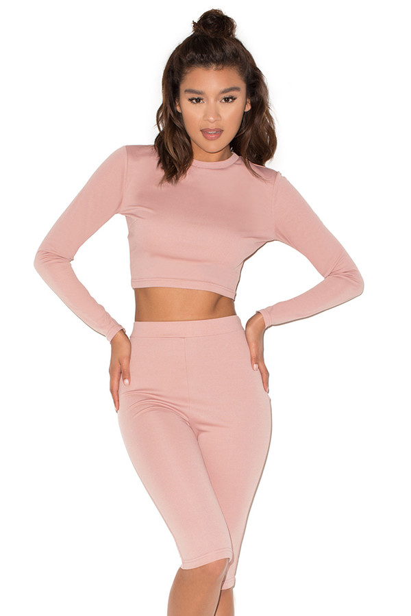Dreamer Taupe Silky Jersey Two Piece Legging Set
