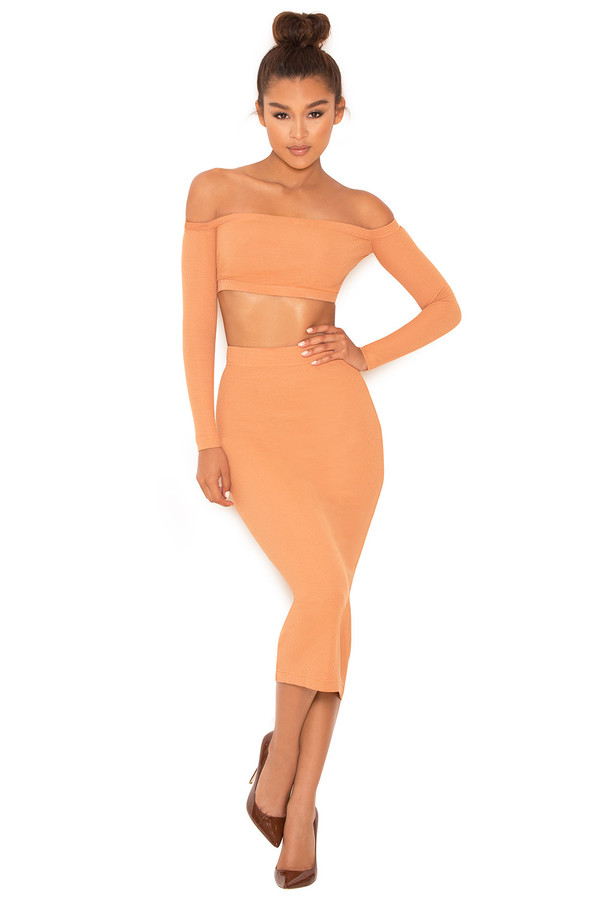 Goals Tan Knitted Jersey Two Piece
